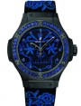 Fake Hublot Big Bang Broderie Sugar Skull Fluo Cobalt Blue 41 mm Watch 343.CL.6590.NR.1201
