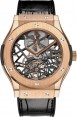 Fake Hublot Classic Fusion Skeleton Tourbillon King Gold 45mm 505.OX.0180.LR
