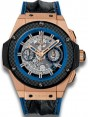 Fake Hublot King Power Unico Gold and Blue 701.OQ.0119.HR