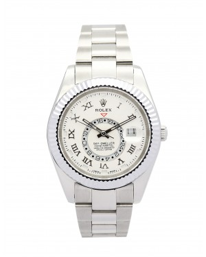 Fake Rolex Sky-Dweller White Dial 326938