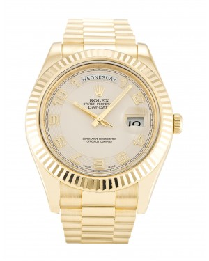 Fake Rolex Day-Date II Ivory Arabic Dial 218238