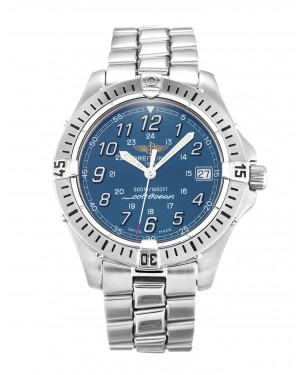 Fake Breitling Colt Quartz Watch Blue Arabic A64350