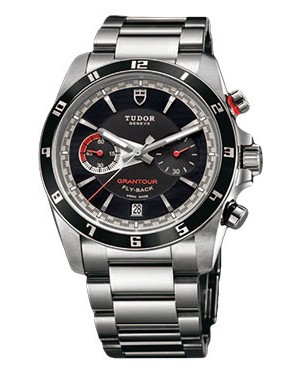 Fake Tudor Grantour Chrono Fly-Back Black Dial 20550N-95730