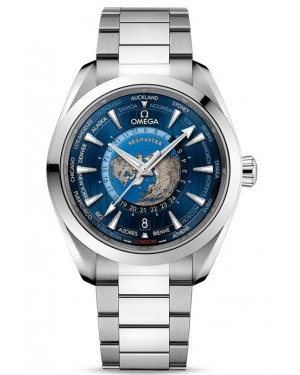 Fake Omega Seamaster Aqua Terra 150M GMT Worldtimer Watch 220.10.43.22.03.001