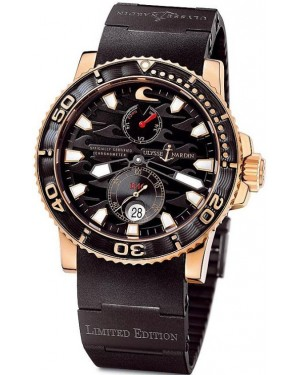 Fake Ulysse Nardin Maxi Marine Diver Black Surf Watch 266-37LE-3B