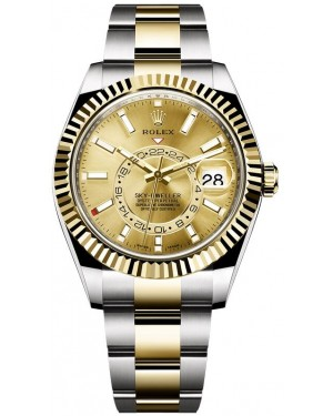 Fake Rolex Sky-Dweller Stainless Steel 326933-0001