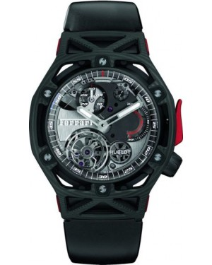 Fake Hublot Techframe Ferrari Tourbillon Chronograph Peek Carbon 408.QU.0123.RX