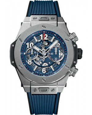 Replica Hublot Big Bang Unico Titanium Blue 45mm 411.NX.5179.RX