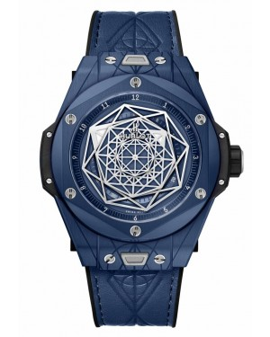 Fake Hublot Big Bang Unico Sang Bleu Ceramic Blue Watch 415.EX.7179.VR.MXM19