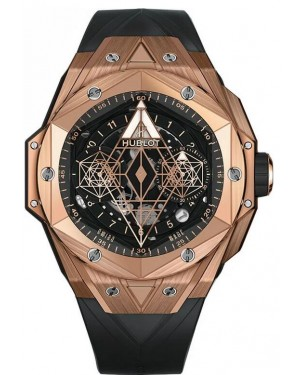 Fake Hublot Big Bang Unico Sang Bleu II King Gold Watch 418.OX.1108.RX.MXM19