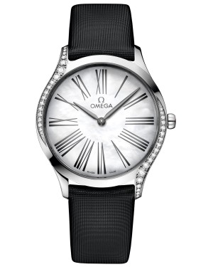 Replica Omega De Ville Steel Diamonds Watch 428.17.36.60.05.001