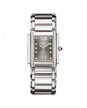 Fake Patek Philippe Twenty~4 Stainless Steel Ladies Watch 4910/10A-010