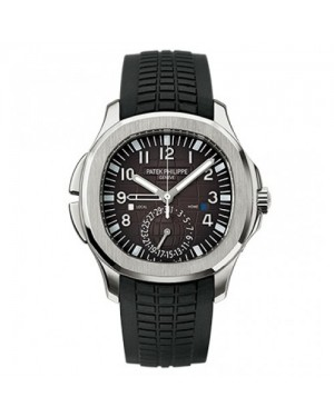 Fake Patek Philippe Aquanaut Dual Time Automatic Mens Watch 5164A-001
