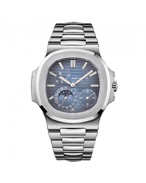 Fake Patek Philippe Nautilus Steel Blue Dial Mens Watch 5712/1A-001