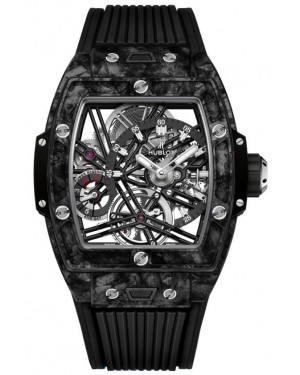 Fake Hublot Spirit Of Big Bang Tourbillon Carbon Black Watch 645.QN.1117.RX