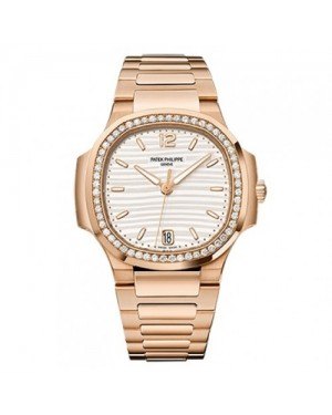 Fake Patek Philippe Nautilus Rose Gold Ladies Watch 7118/1200R-001