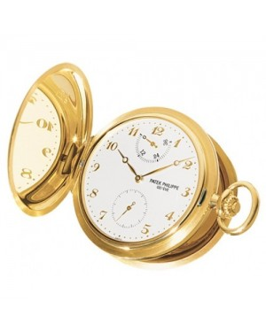 Fake Patek Philippe Yellow Gold Pocket Watch for Men 983J-001