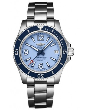 Fake Breitling Superocean Automatic 36 Steel Blue Watch A17316D81C1A1
