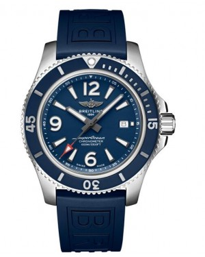 Fake Breitling Superocean Automatic 44 Steel Blue Watch A17367D81C1S1