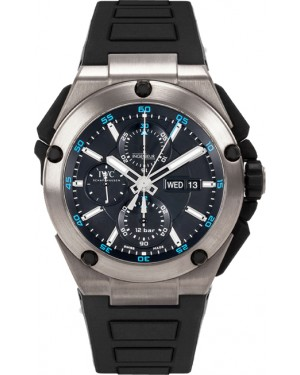 Fake IWC Ingenieur Double Chronograph Titanium Watch IW386503