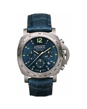 Fake Panerai Luminor Chrono Daylight 44mm Titanium Watch PAM00326