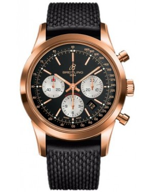 Fake Breitling Transocean Chronograph Rose Gold Watch RB015212/BF15/279S/R20D.3