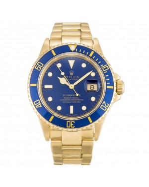 Fake Rolex Submariner Blue Dial 16618