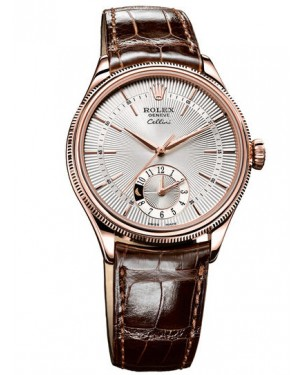 Fake Rolex Cellini Dual Time Everose Gold Watch 50525 sbr