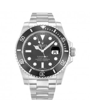 Fake Rolex Submariner Black Dial 116610LN