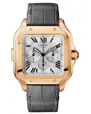 Fake Cartier Santos de Cartier Chronograph Watch WGSA0017