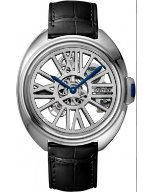 Fake Cartier Cl?? De Cartier Automatic Skeleton Watch WHCL0008