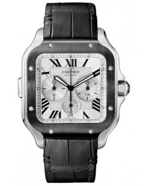 Fake Cartier Santos De Cartier Chronograph Watch WSSA0017