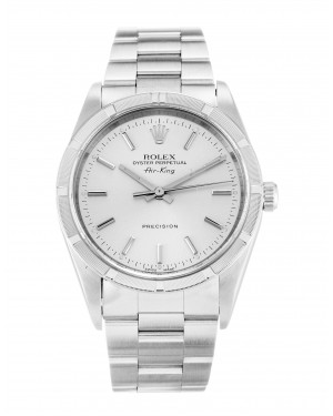 Fake Rolex Air-King Silver Dial 14010M