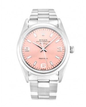 Fake Rolex Air-King Pink Quarter Arabic Dial 14000