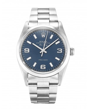 Fake Rolex Air-King Blue Quarter Arabic Dial 14000