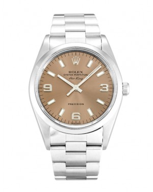 Fake Rolex Air-King Salmon Quarter Arabic Dial 14000