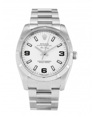 Fake Rolex Air-King White Quarter Arabic 114210