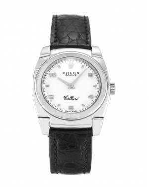 Fake Rolex Cellini White Arabic 5310