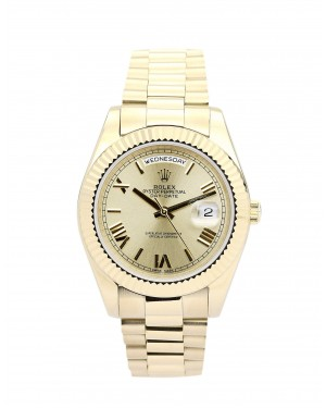 Fake Rolex Day-Date II Gold Dial218238