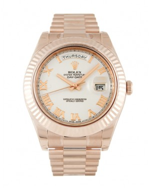 Fake Rolex Day-Date II Ivory Roman Numeral Dial 218235