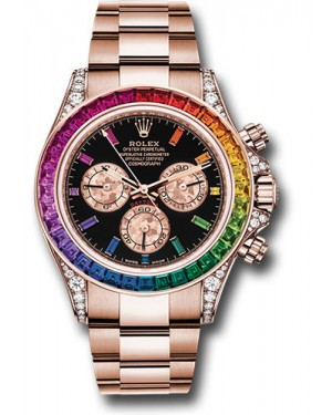 Fake Rolex Daytona Rainbow Everose Gold 116595 RBOW