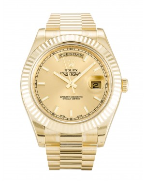 Fake Rolex Day-Date II Champagne Dial 218238