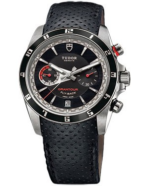 Fake Tudor Grantour Chrono Fly-Back Black Dial 20550N