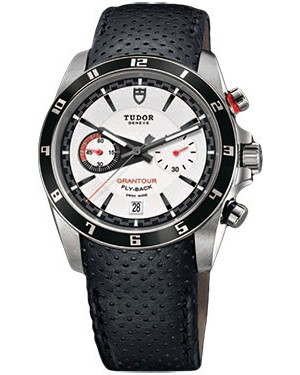 Fake Tudor Grantour Chrono Fly-Back White Dial Mens Watch 20550N