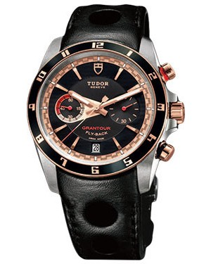 Fake Tudor Grantour Chrono Fly-Back 20551N-leather