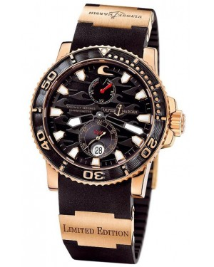 Fake Ulysse Nardin Maxi Marine Diver Black Surf Watch 266-37LE-3A