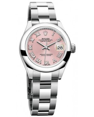 Fake Rolex Oyster Perpetual Lady-Datejust 28 Pink Dial Ladies Watch 279160