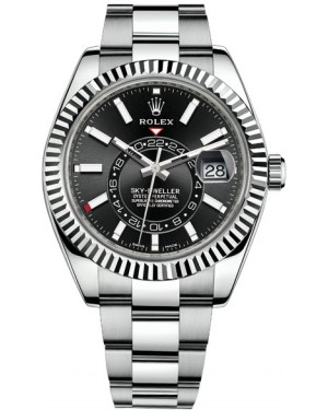 Fake Rolex Sky-Dweller 42 mm Steel and White Gold 326934-0005