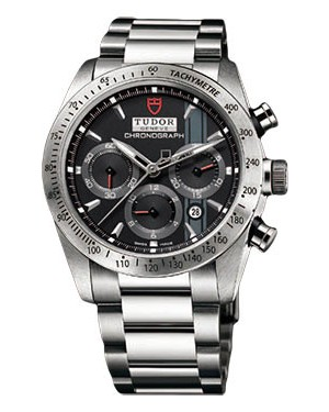 Fake Tudor Fastrider Chronograph Bracelet Black Index 42000-95730