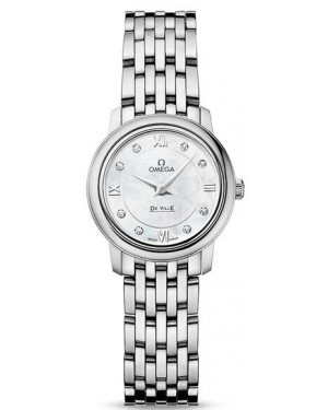 Fake Omega De Ville Prestige Quartz 24.4mm Ladies Watch 424.10.24.60.55.001